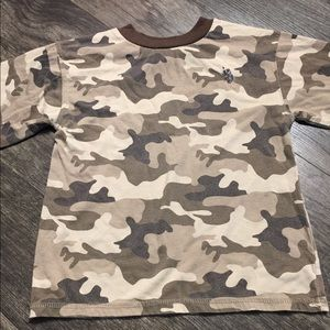 Boys Camouflage Long Sleeve Shirt Medium